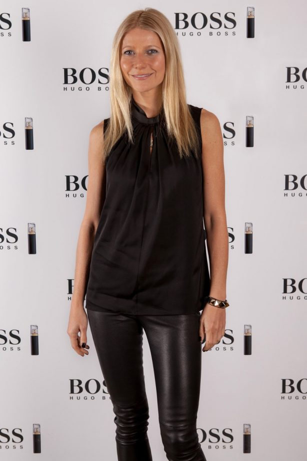 Gwyneth Paltrow at Boss Nuit Pour Femme breakfast in London