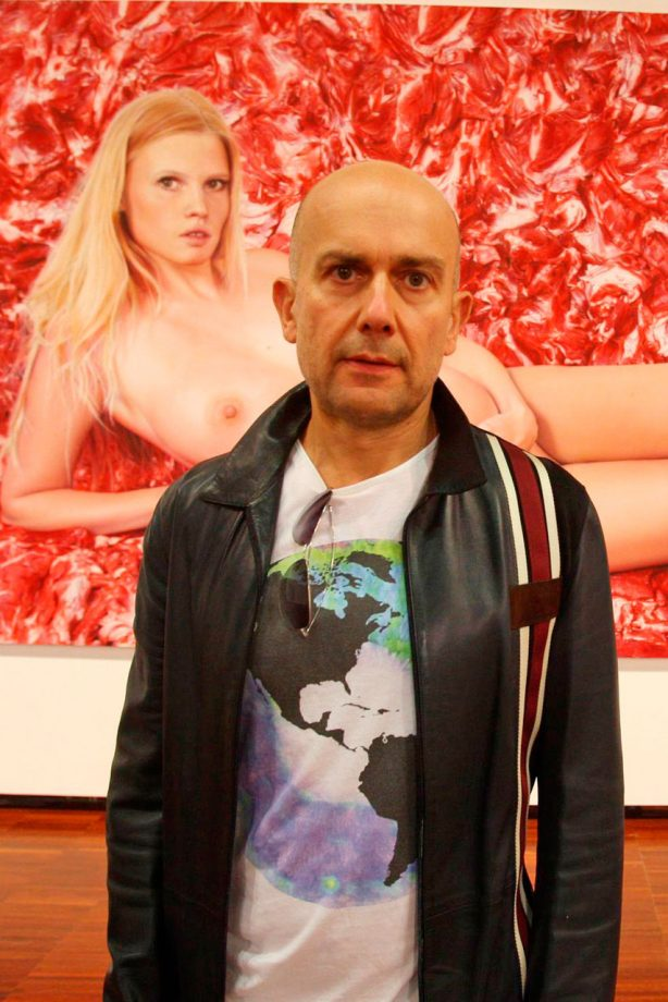 Lara Stone has been immortalised in a painting by Marc Quinn