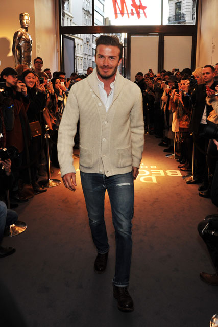 David Beckham - H&M launch in Regent Street - Marie Claire - Marie Claire UK