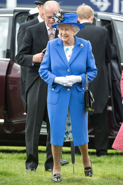 The Queen attends Epsom Races 2012