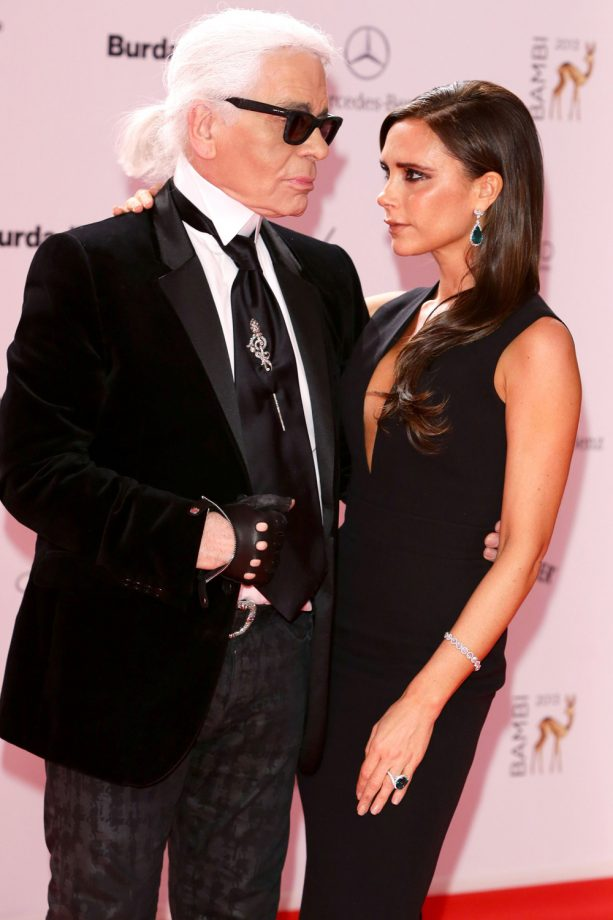 Karl Lagerfeld and Victoria Beckham at the Bambi Awards