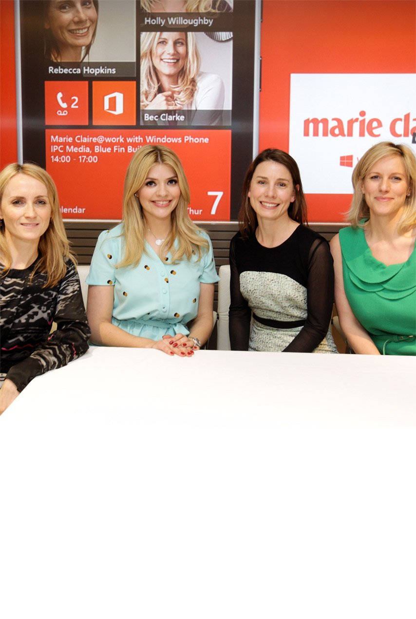 Holly Willoughby attends Marie Claire work with Windows Phone event