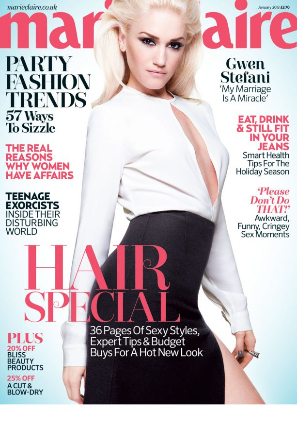 Marie Claire cover - January 2013 - Gwen Stefani