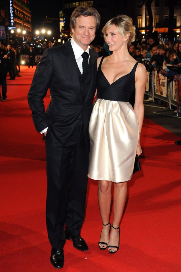 Cameron Diaz and Colin Firth at Gambit premiere
