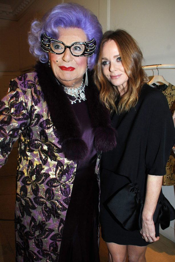 Dame Edna and Stella McCartney At The Stella McCartney Christmas Lights Ceremony