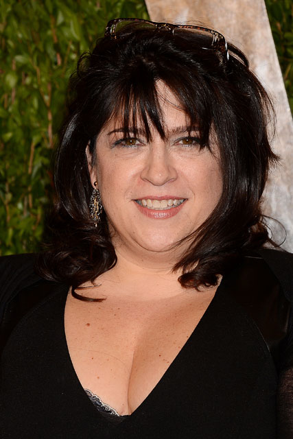 E L James wears a black dress at the Fifty Shades Of Grey book signing in LA