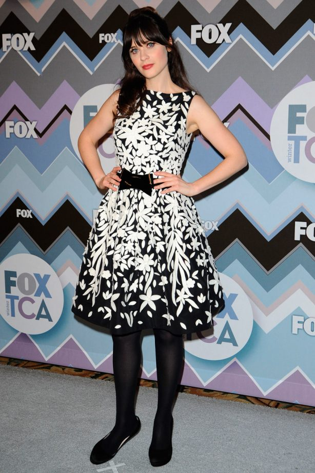 Zooey Deschanel at the 2013 FOX Winter TCA All-Star Party