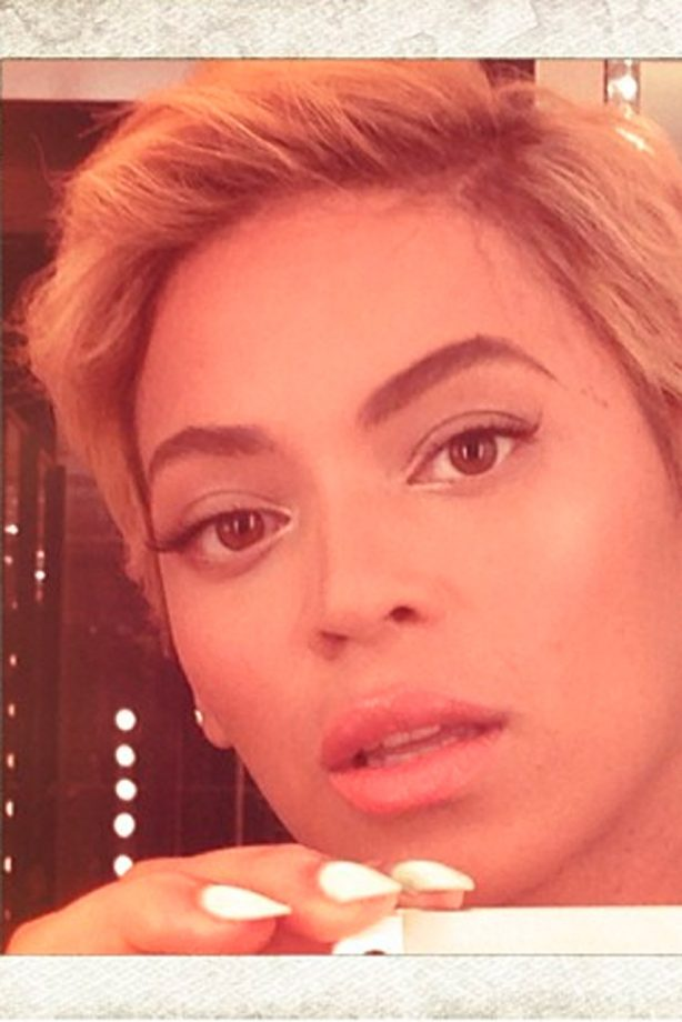 Beyonce unveils a short pixie crop hairstyle