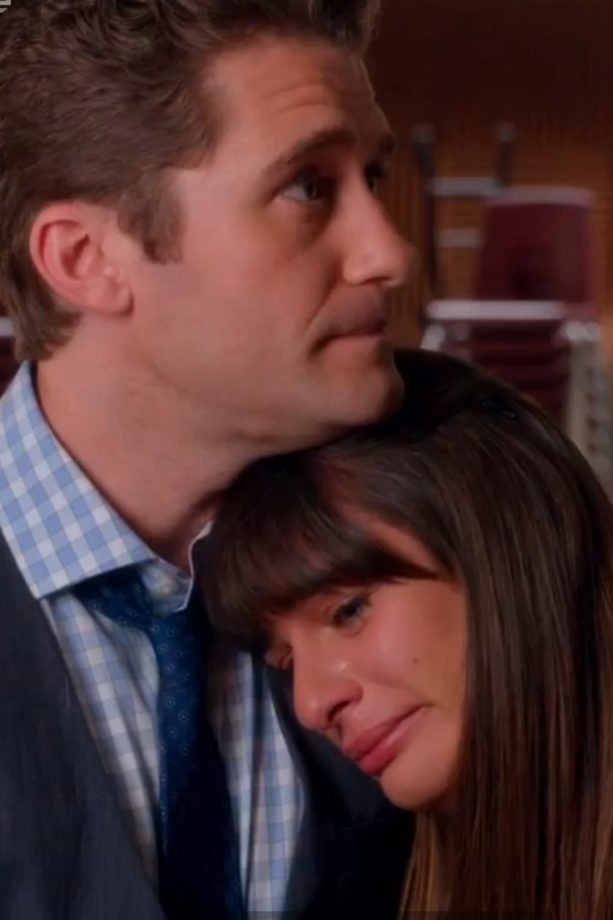 Lea Michele cries in Cory Monteith Glee tribute episode