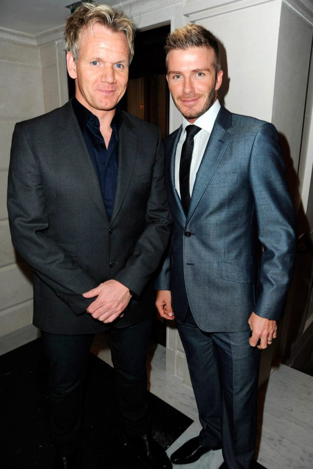 David Beckham and Gordon Ramsay at a celebrity event