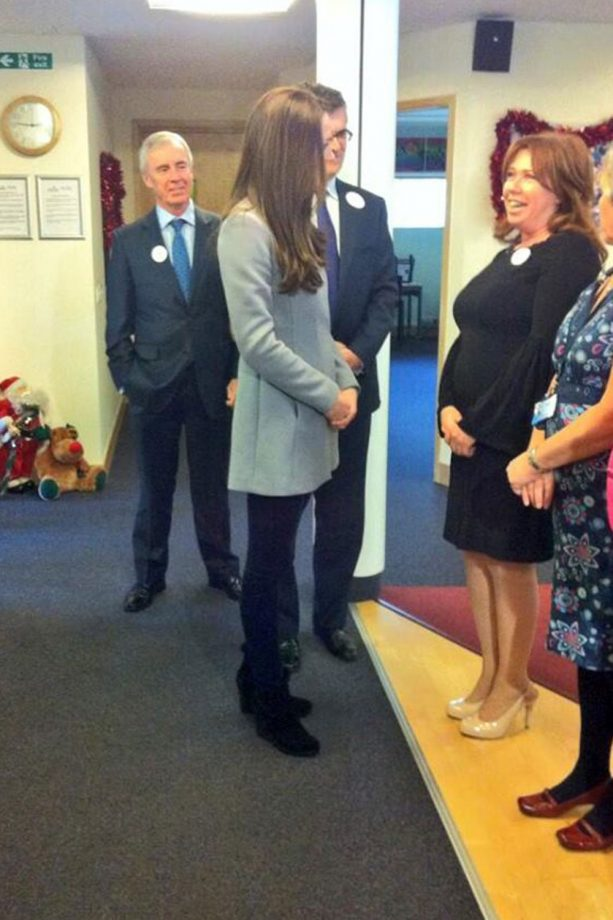 Kate Middleton meets children and their families at Shooting Star Children's Hospice