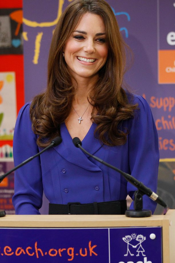 Kate Middleton delivers a speech to one of her charities
