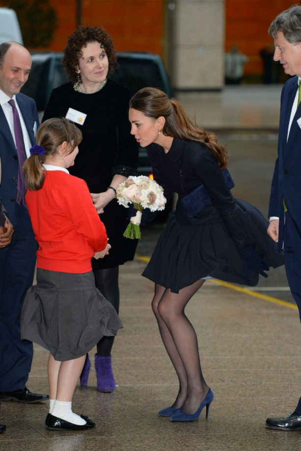 Kate Middleton visits the Place2Be charity in Canary Wharf