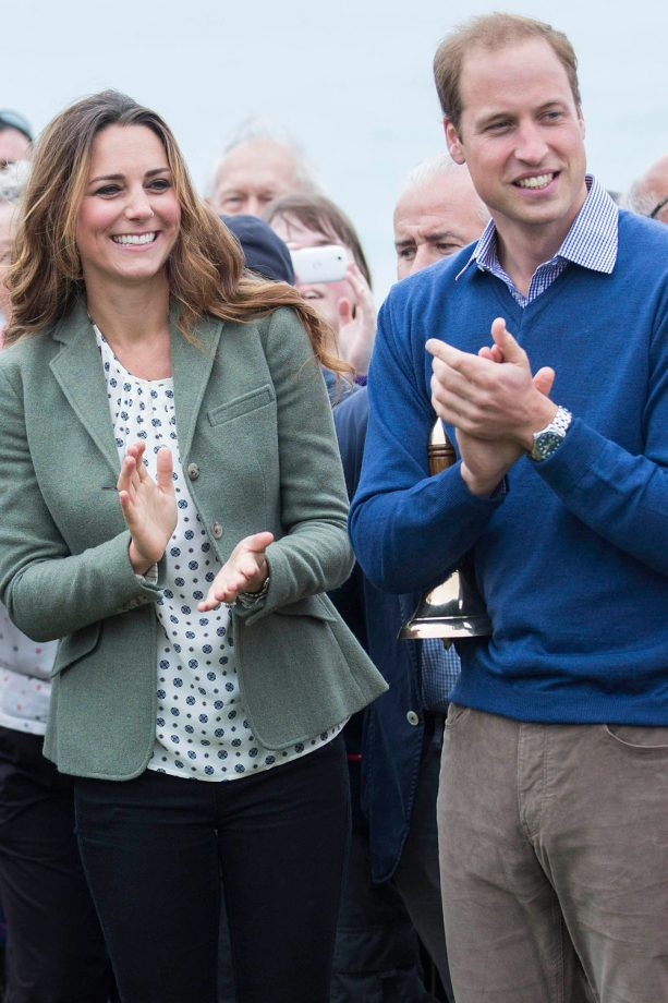 Kate Middleton and Prince William in Anglesey