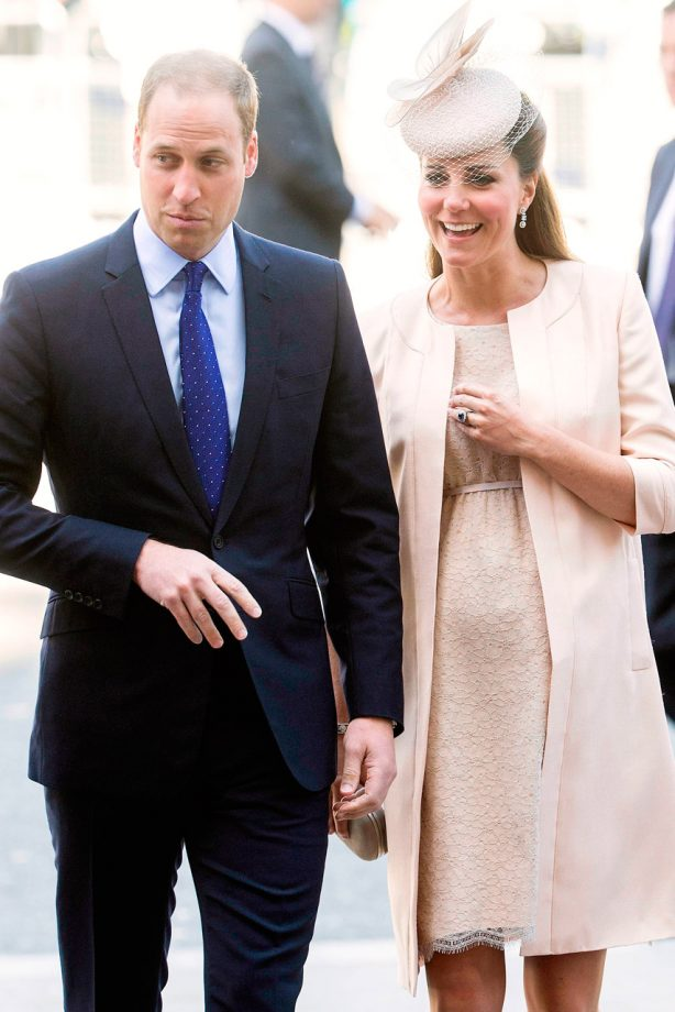 Kate Middleton and Prince William at the Coronation service