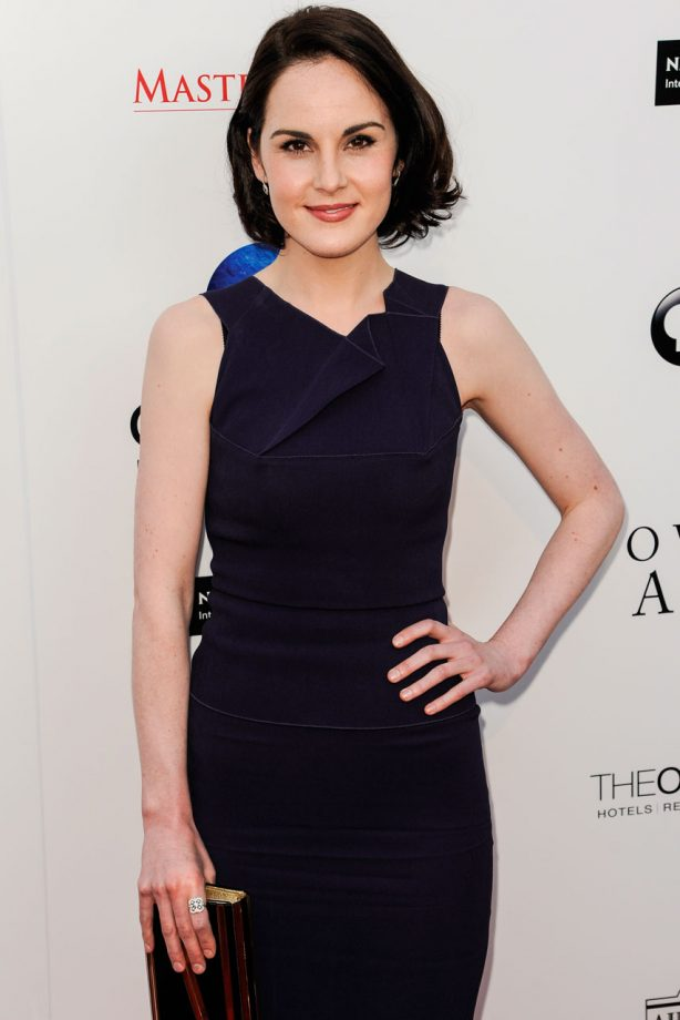 Michelle Dockery at a Downton Abbey party in LA