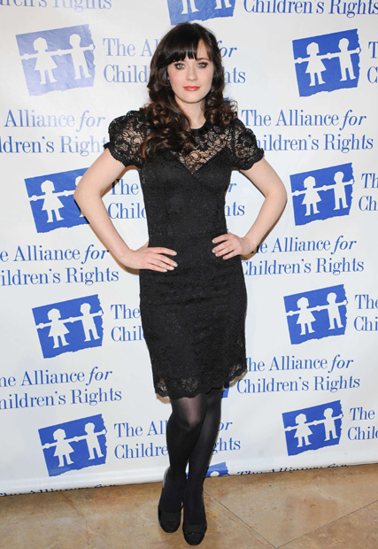 Zooey Deschanel, russell brand, celebrity pictures, marie claire, marie claire uk