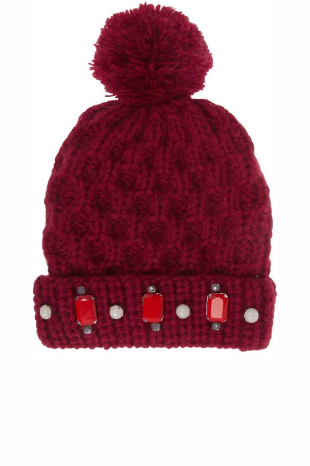 be46949a140 Tntees embellished bobble hat