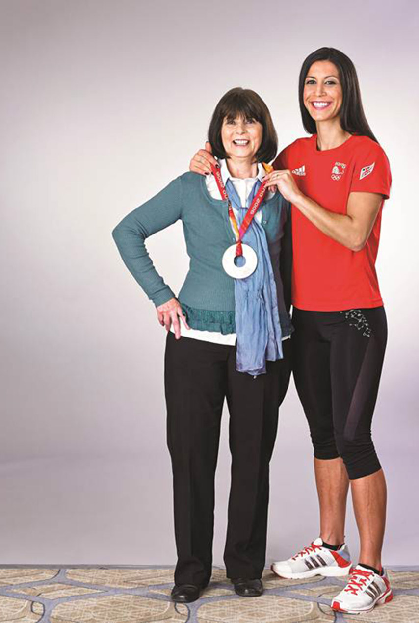 Olympian Shelley Rudman's mother Josie is a supermom