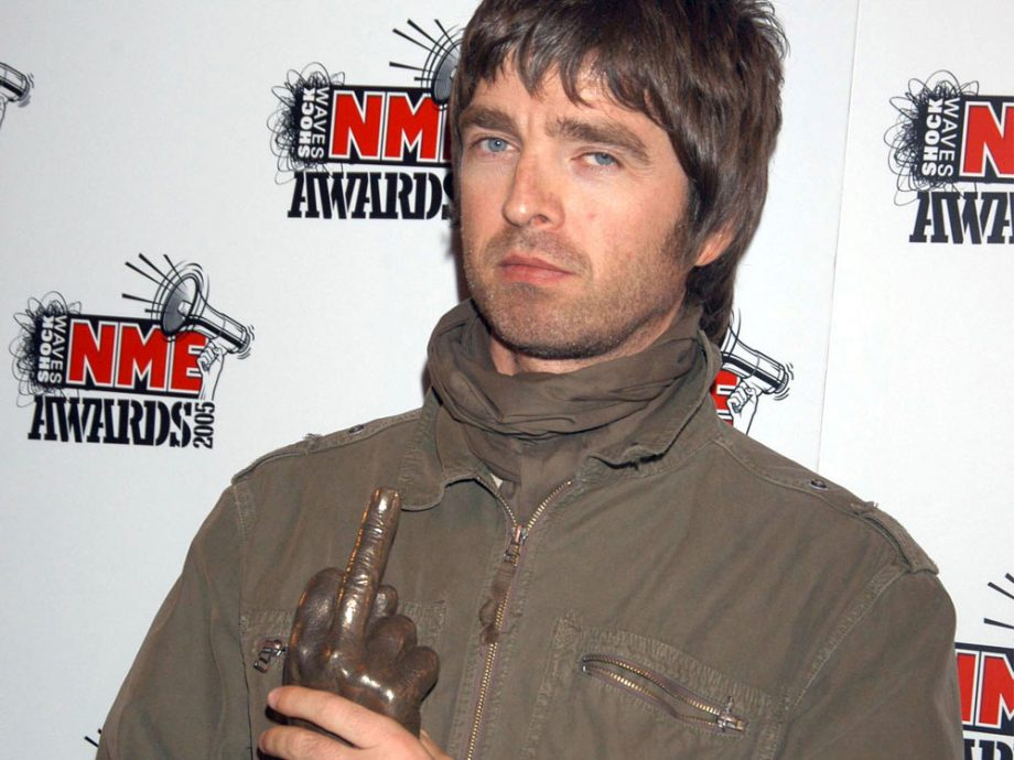 Noel Gallagher at the NME Awards
