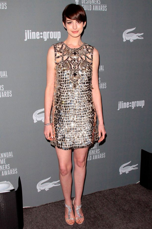 Anne Hathaway at the Costume Designers Guild Awards 2013 in Los Angeles