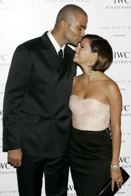 Eva Longoria and Tony Parker at the IWC Charity DInner in Paris