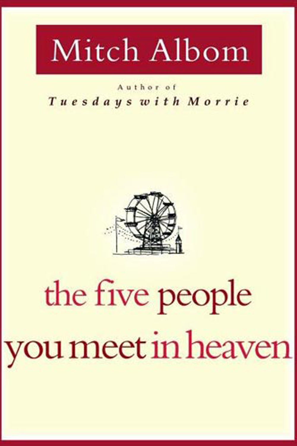 an analysis of the novel the five people you meet in heaven by mitch albom His first novel, the five people you meet in heaven, is the most successful us   most recently, oprah winfrey presents mitch albom's for one more day aired.
