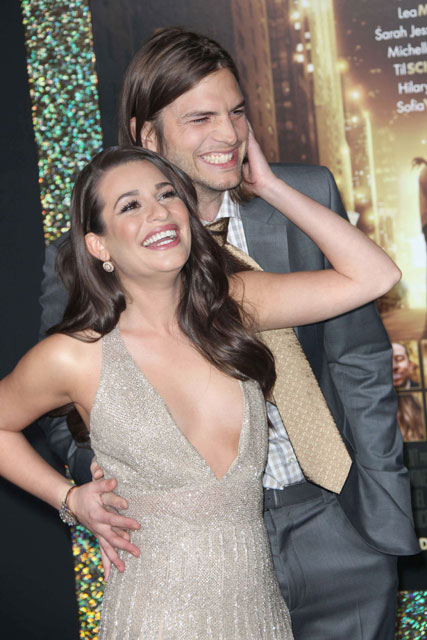 Lea Michele - ashton kutcher - new years eve - out of league