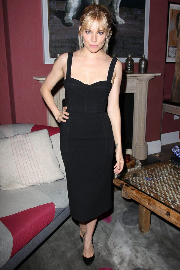 Sienna Miller wows in a little black dress at the screening of Just Like A Woman