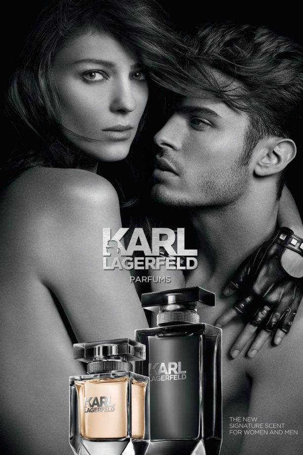 Karl Lagerfeld fragrance shoot
