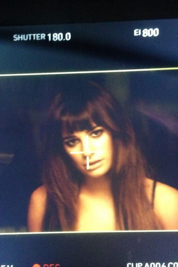 Lea Michele smoulders in her debut music video
