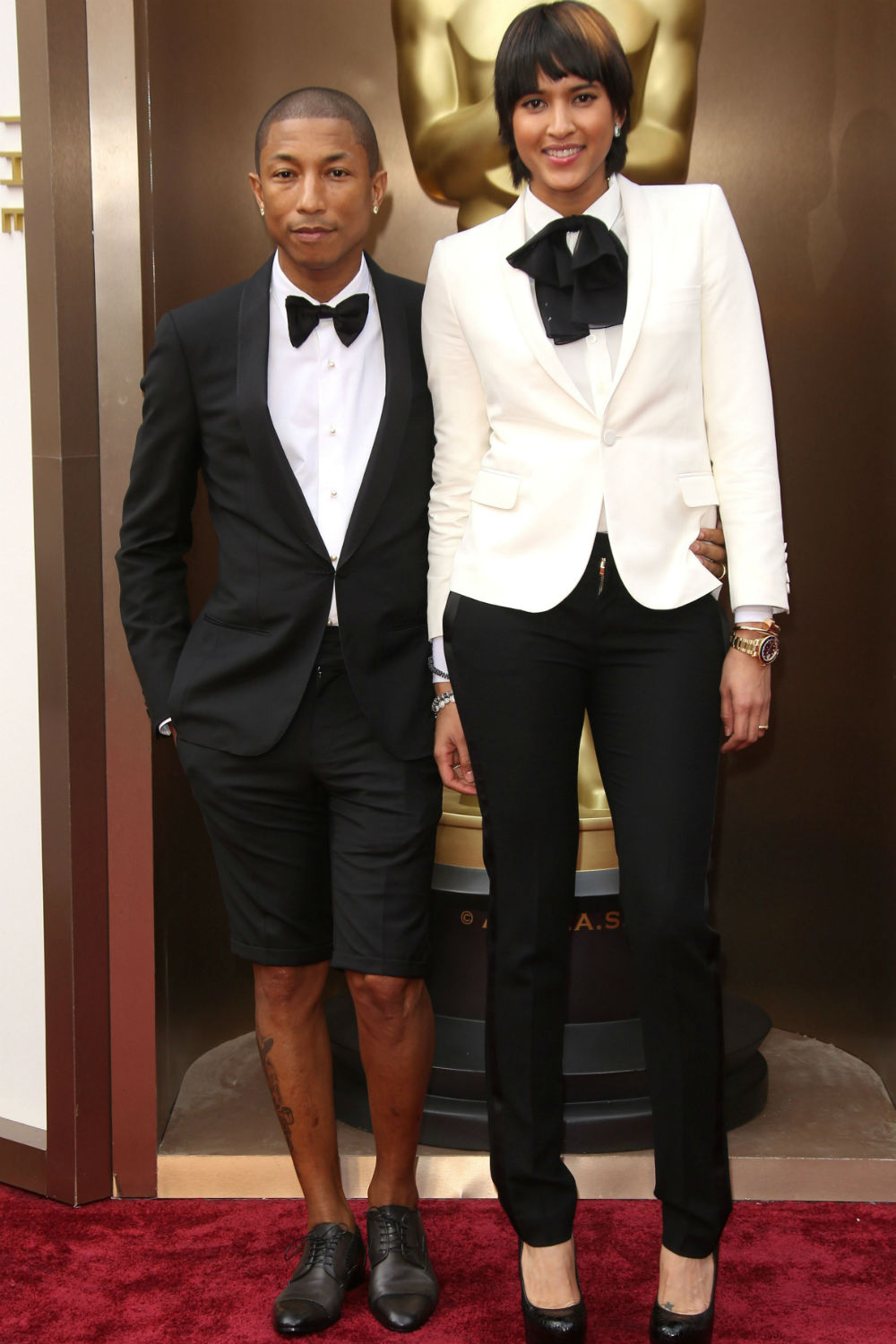 Pharrell Wore Tuxedo Shorts To The Oscars