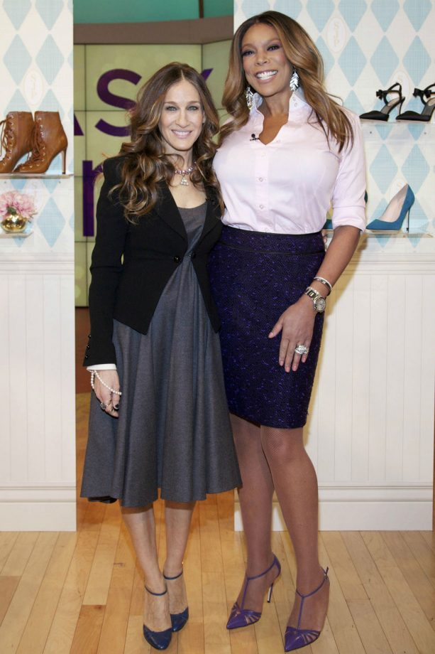 Sarah Jessica Parker models Carrie shoe on The Wendy Williams Show.