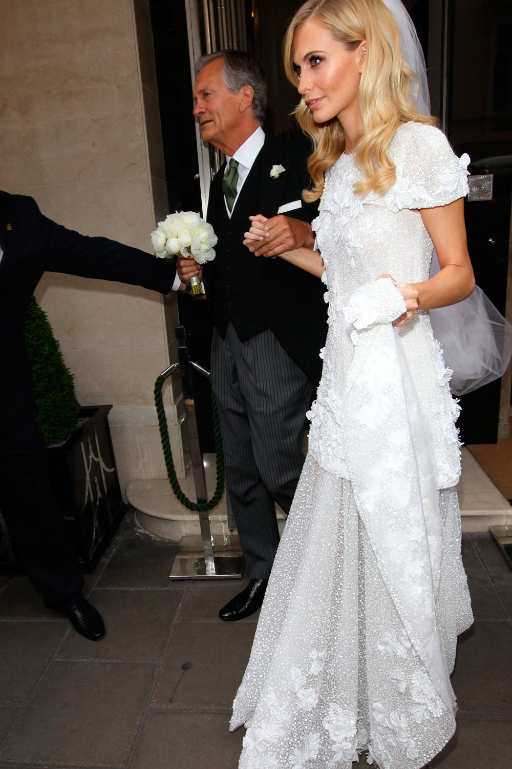 See Poppy Delevingne's Stunning Custom Chanel Wedding Gown (and Cara'sToo)