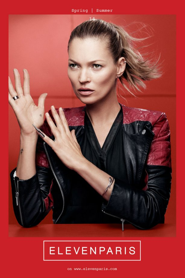 Kate Moss is named the new face of ELEVENPARIS SS14