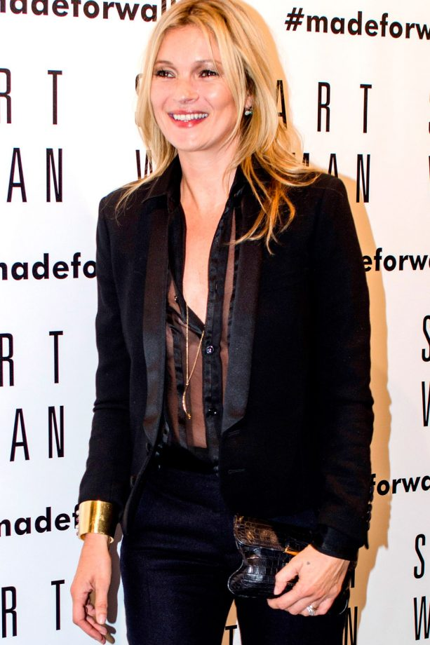 Kate Moss at the Stuart Weitzman store opening in Milan