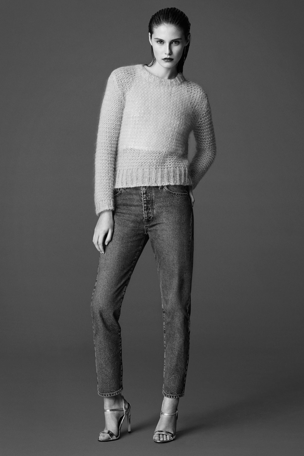 what are girlfriend jeans topshop model shot