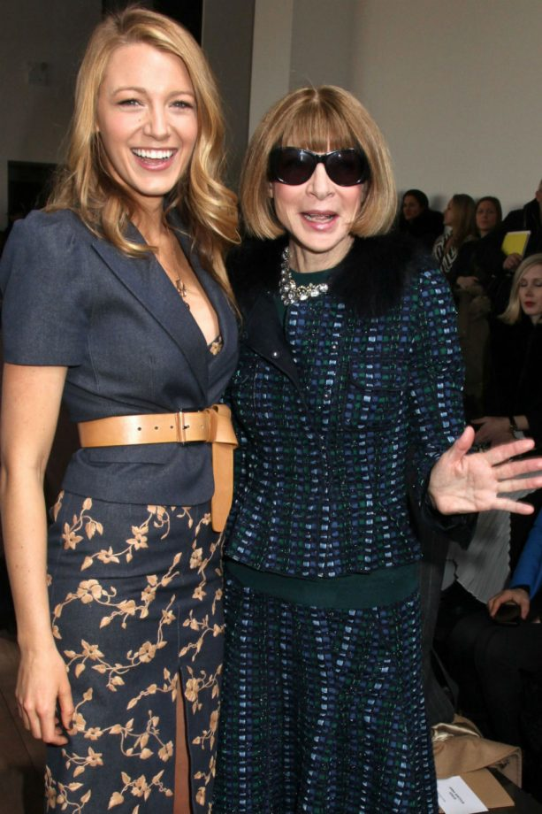 Blake Lively and Anna Wintour at the Michael Kors show