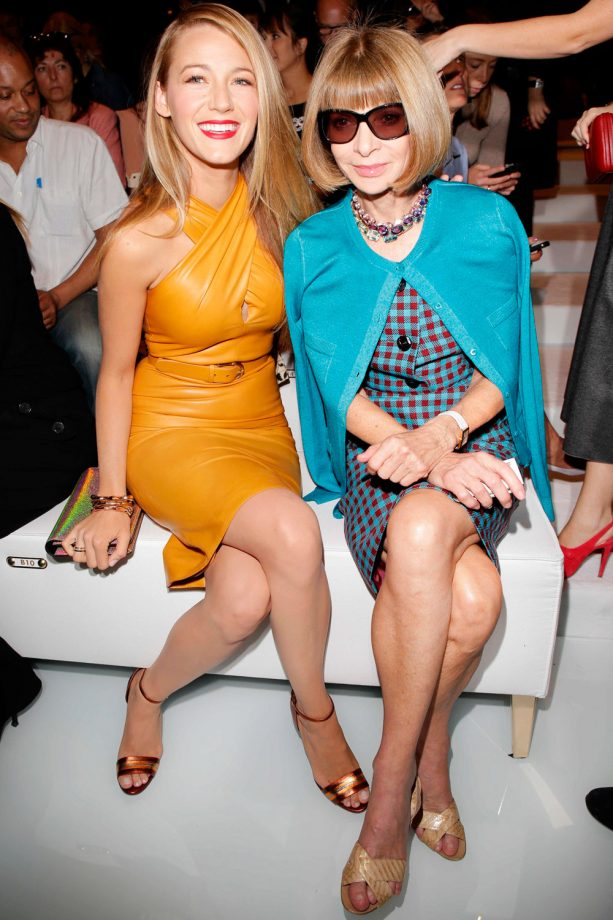 Blake Lively and Anna Wintour at Gucci's SS14 show