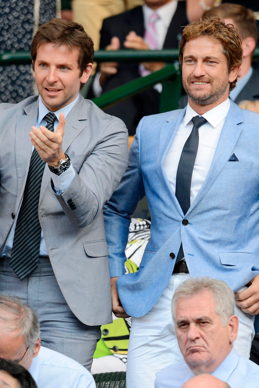 Gerard Butler On Bradley Cooper\'s Matching Wimbledon Suit: \'It Was ...