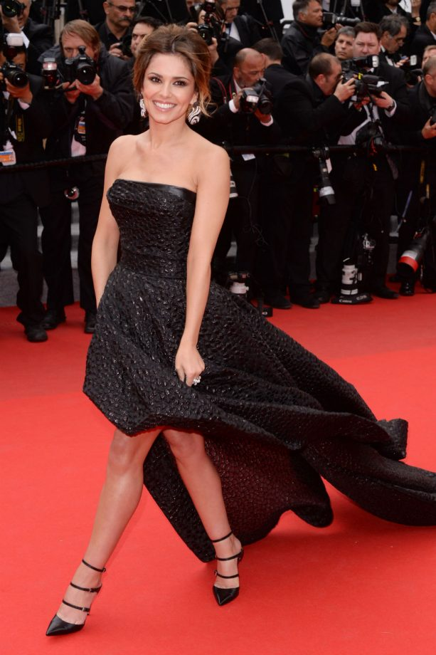 Cheryl Cole battles the wind at Cannes Film Festival 2014