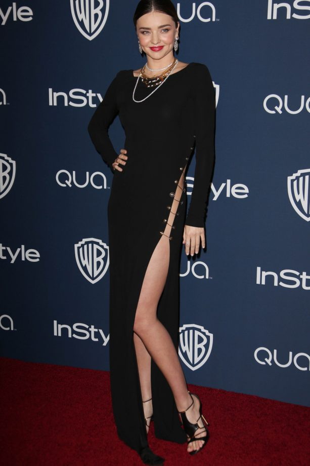 Miranda Kerr Gives A Nod To The 90s In A Stunning Black Gown