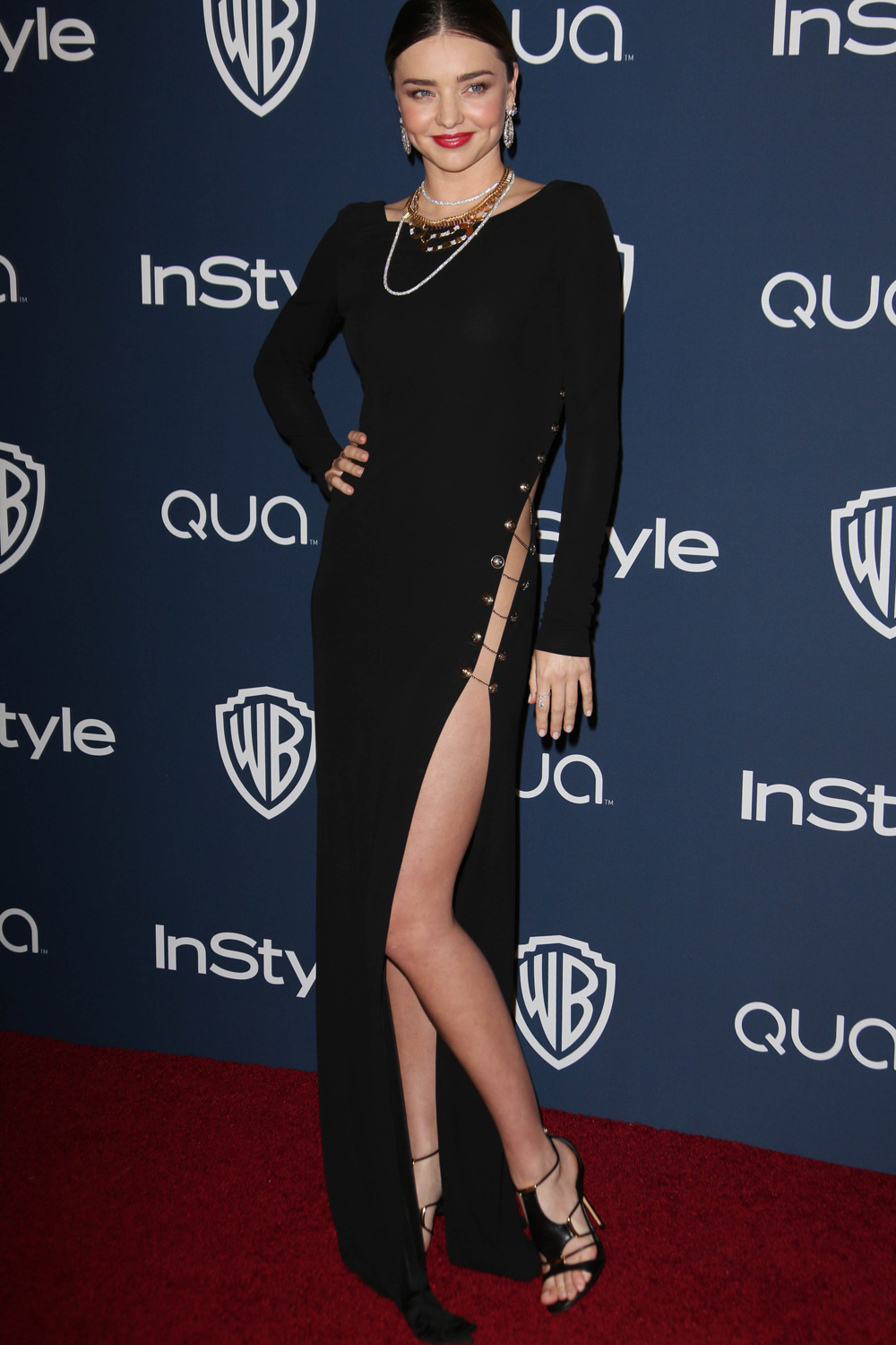 Miranda Kerr Reminds Us Why The 90s Were Awesome With Her Daring After-Party Dress