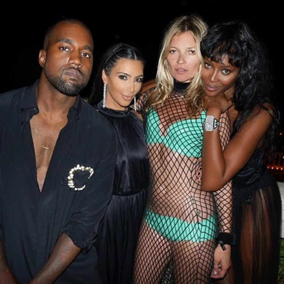 Kate Moss, Naomi Campbell, Kim Kardashian, Kanye West, Kendall Jenner and Justin Bieber celebrate Riccardo Tisci's 40th birthday party in Ibiza
