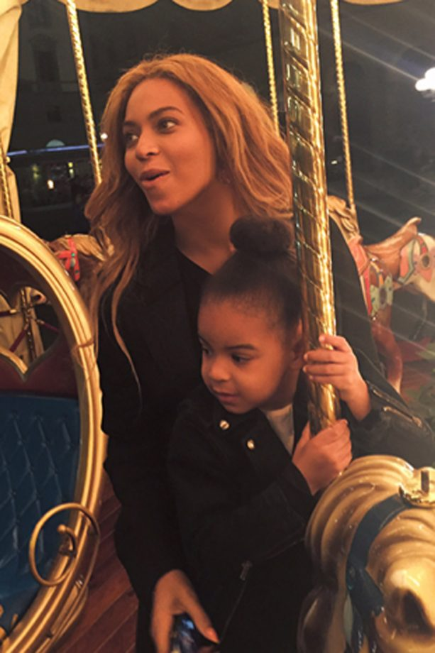 Beyonce Knowles and Blue Ivy in Italy 2015