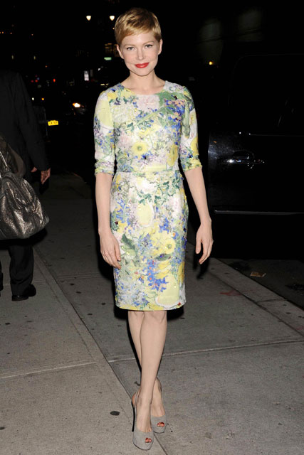Michelle Williams in Erdem on the Late Show with David Letterman