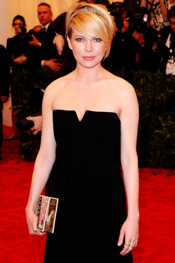 Michelle Williams on the red carpet at the Met Gala