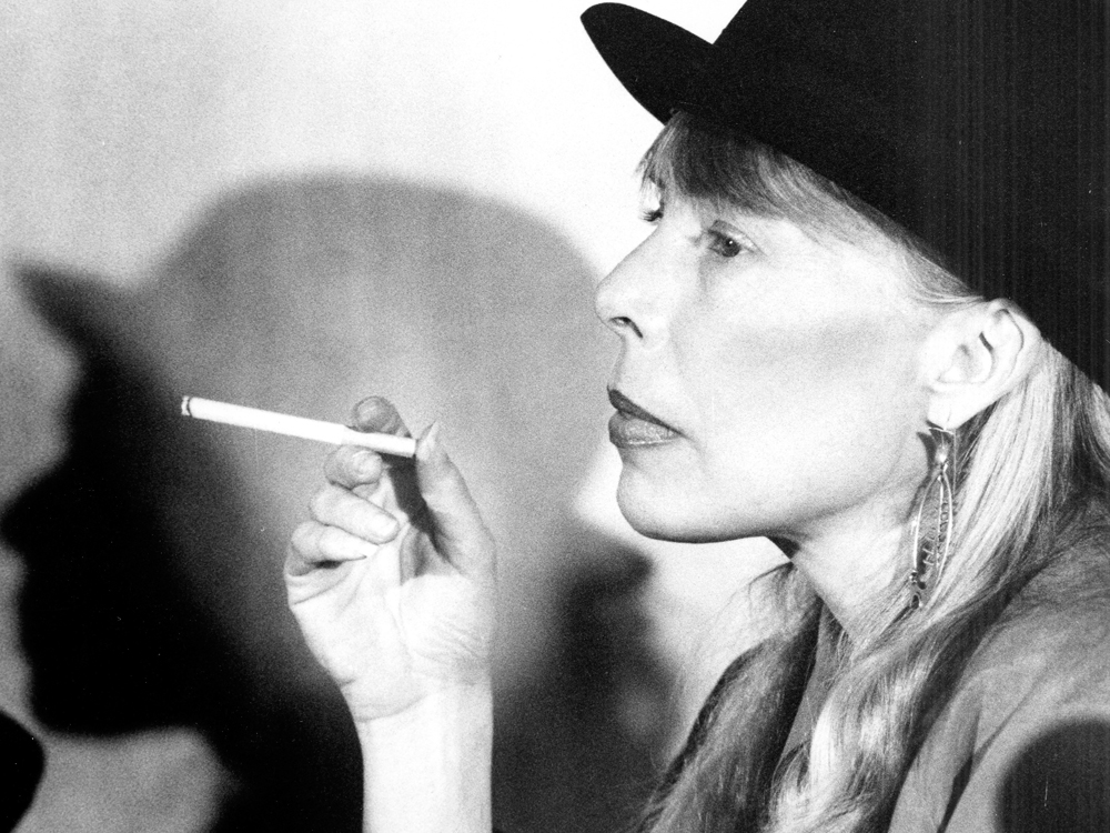 """the life of joni mitchell Joni mitchell, original name roberta joan anderson, (born november 7, 1943, fort mcleod, alberta, canada), canadian experimental singer-songwriter whose greatest popularity was in the 1970s once described as the """"yang to bob dylan's yin, equaling him in richness and profusion of imagery ."""