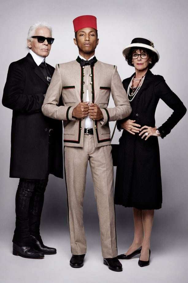 Pharrell Williams and Karl Lagerfeld in Chanel campaign