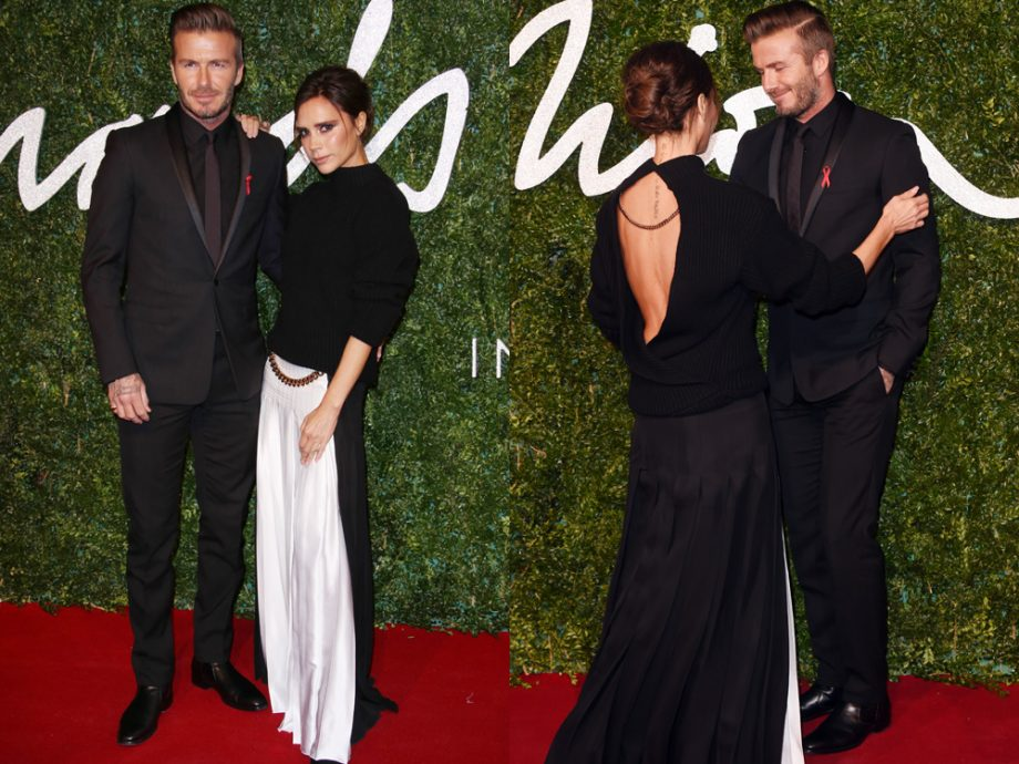 Victoria and David Beckham at the BFAs